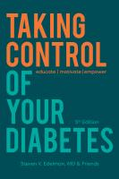 Taking Control of Your Diabetes, 5E Cover